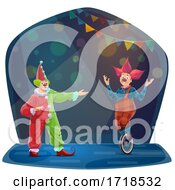 Poster, Art Print Of Clowns Performing On Stage