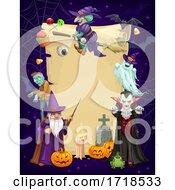 Poster, Art Print Of Scroll Halloween Border