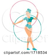 Female Circus Performer With Hoops