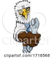 Eagle Plumber Or Mechanic Holding Spanner