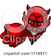 Devil Satan Cricket Sports Mascot Cartoon by AtStockIllustration