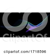Poster, Art Print Of Abstract Banner With Rainbow Flow Design