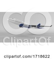 Airplane Isolated On Blank Background