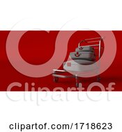 Suitcase On Wheels Isolated On Background Travel Concept