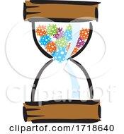 Corona Virus Hourglass With Viruses Inside