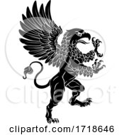 Griffon Rampant Griffin Coat Of Arms Crest Mascot by AtStockIllustration