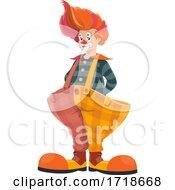 Poster, Art Print Of Clown In Big Pants