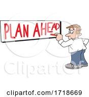 Man Writing Plan Ahead On A Board