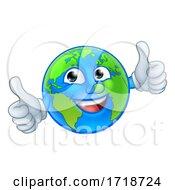 Poster, Art Print Of Earth Globe World Mascot Cartoon Character