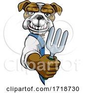Poster, Art Print Of Bulldog Gardener Gardening Animal Mascot