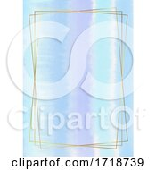 Poster, Art Print Of Watercolour Background With Gold Frame