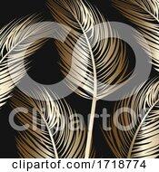Palm Tree Leaf Background Pattern Design