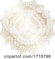 Poster, Art Print Of Gradient Golden Mandala