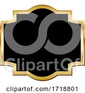 Black And Gold Frame Design Element