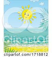 Cheerful Sun Over A Beach