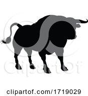 Poster, Art Print Of Silhouette Bull