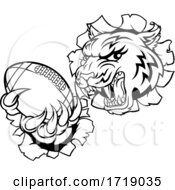 Poster, Art Print Of Tiger American Football Player Sports Mascot