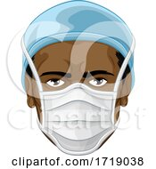 Doctor Or Nurse Wearing PPE Protective Face Mask
