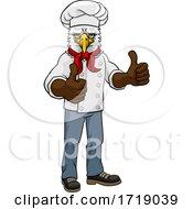 Eagle Chef Mascot Thumbs Up Cartoon