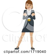 Poster, Art Print Of Business Woman Mascot Concept