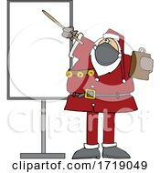 Cartoon Sauta Wearing A Mask And Pointing To A Board