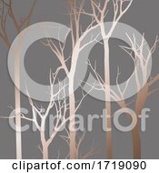 Abstract Tree Silhouette Pattern Design