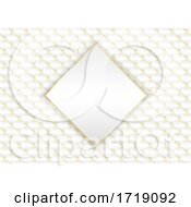 Poster, Art Print Of Elegant Background In Gold And White
