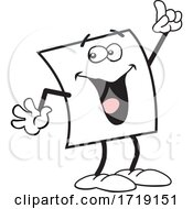 Cartoon Friendly Note Character Holding Up A Finger