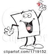 Cartoon Friendly Note Character Holding Up A Reminder Finger
