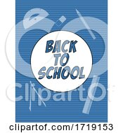 Back To School Blue Background With Text