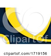 Abstract White Blue And Yellow Background