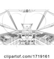 Spaceship Space Ship Or Air Plane Interior Cockpit