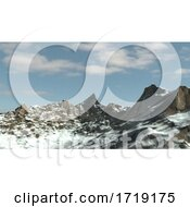Poster, Art Print Of Snowy Winter Mountain Side