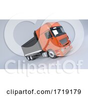 Poster, Art Print Of Tipper Dump Truck Isolated