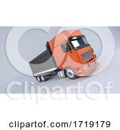Tipper Dump Truck Isolated