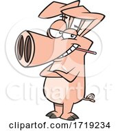 Poster, Art Print Of Cartoon Swine With The Flu