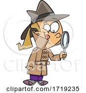 Cartoon Girl Detective