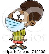 Cartoon Girl Wearing A Mask