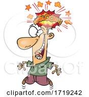 Cartoon Man With A Brain Explosion