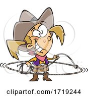 Cartoon Western Cowgirl