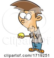 Cartoon Boy Thinking Of When Life Gives You Lemons by toonaday