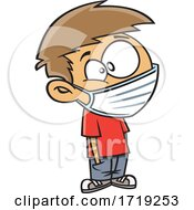 Cartoon Boy Wearing A Mask
