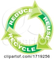 Green Reduce Reuse Recycle Arrows