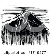 Black and White Woodcut Mountain by xunantunich #COLLC1719277-0119