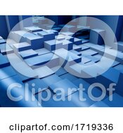 Poster, Art Print Of 3d Background Of Extruding Isometric Blocks