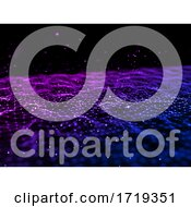 Poster, Art Print Of 3d Abstract Futuristic Background With Low Poly Design With Connecting Lines And Dots