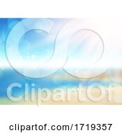 Abstract Defocussed Summer Background With Bokeh Lights
