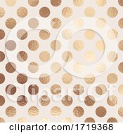 Poster, Art Print Of Gold Foil Polka Dot Texture Background