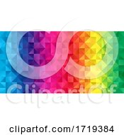 Poster, Art Print Of Rainbow Coloured Low Poly Banner Design