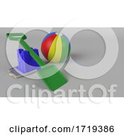 Poster, Art Print Of Colourful Plastic Bucket And Spade Background